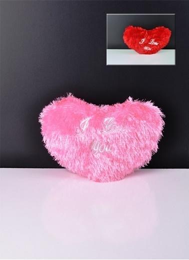 Bayev Kalp Yastık - Kırmızı (Sevgililer Gününe Özel) Pembe